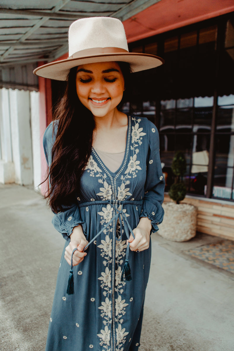 Lisbon Embroidered Dress