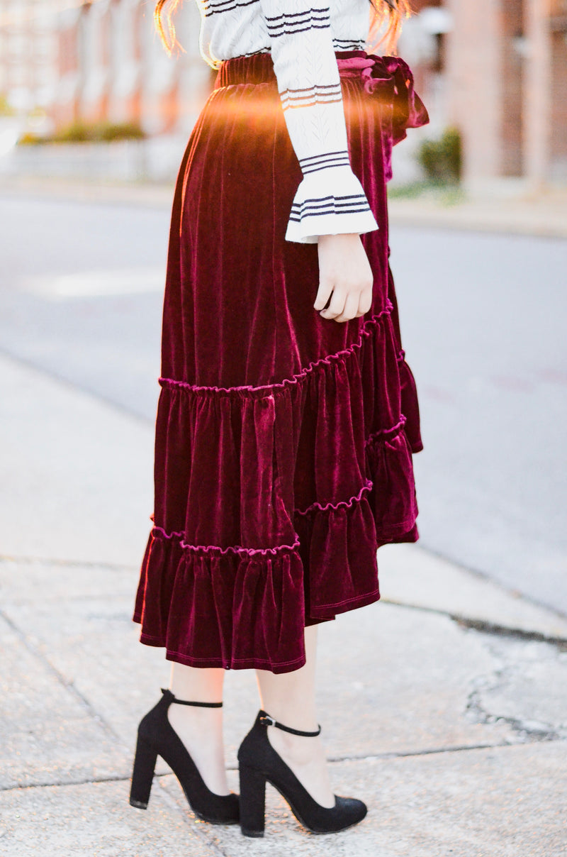 *FINAL SALE* The Noelle Velvet Skirt