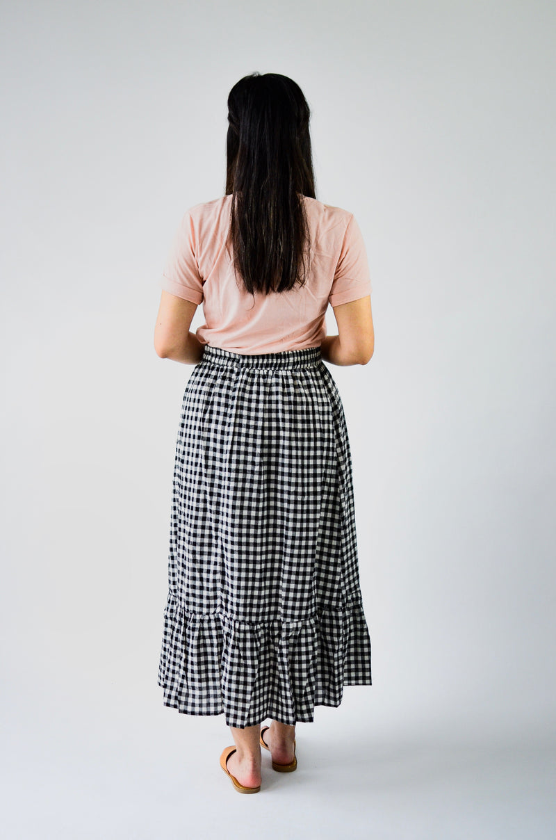 The Clare Gingham Maxi Skirt