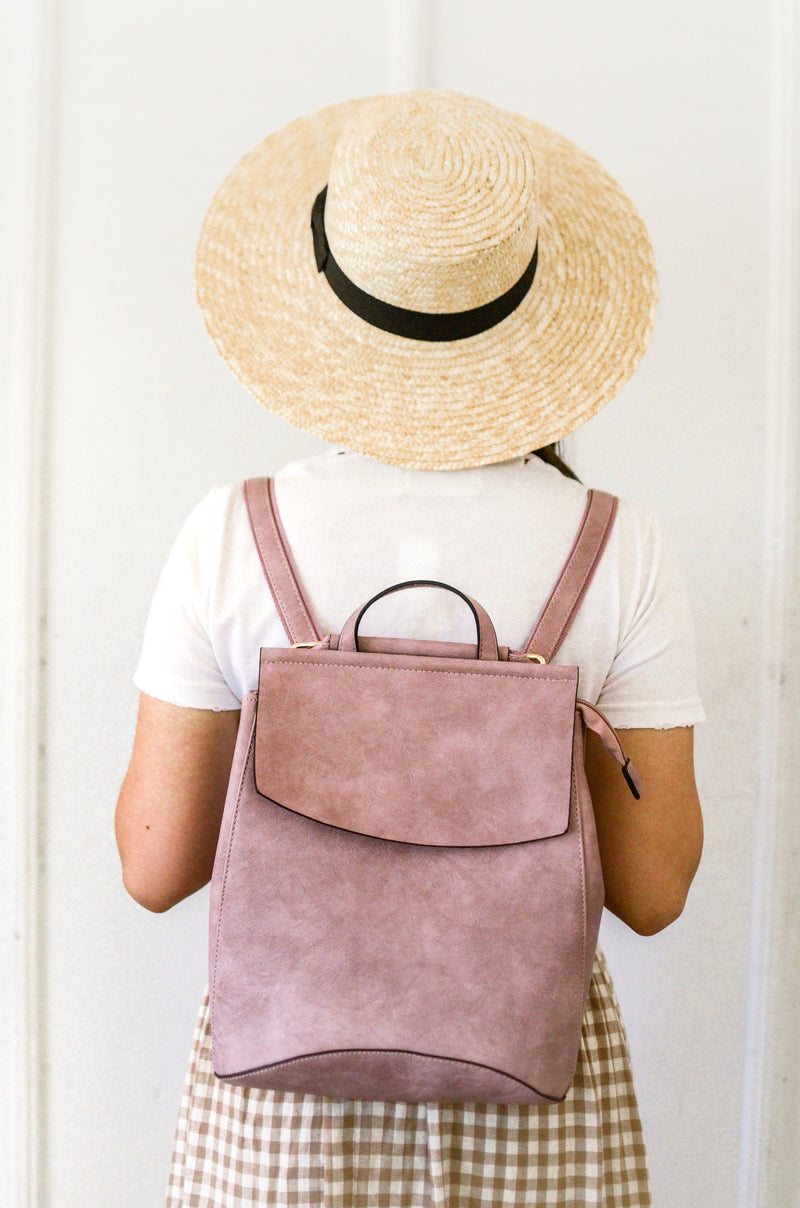 Adventure Awaits Backpack in Mauve