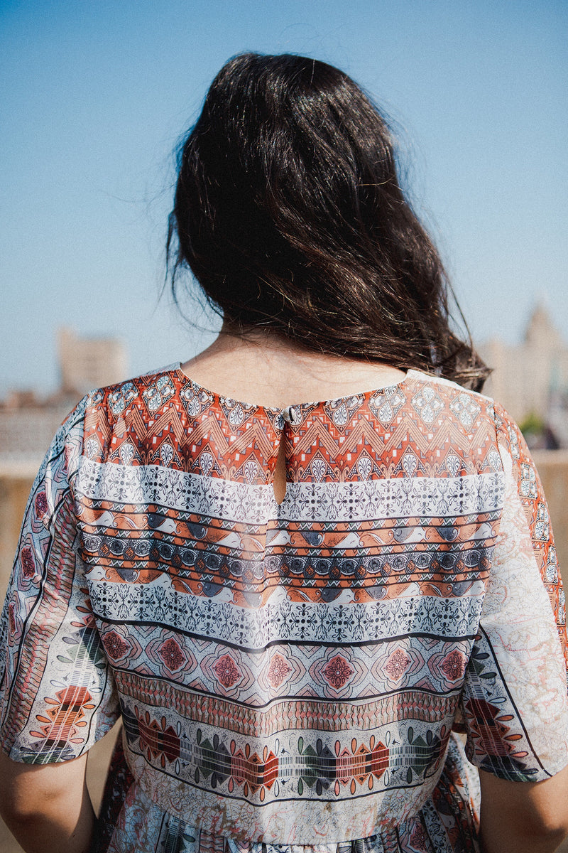 The Cairo Mixed Print Dress