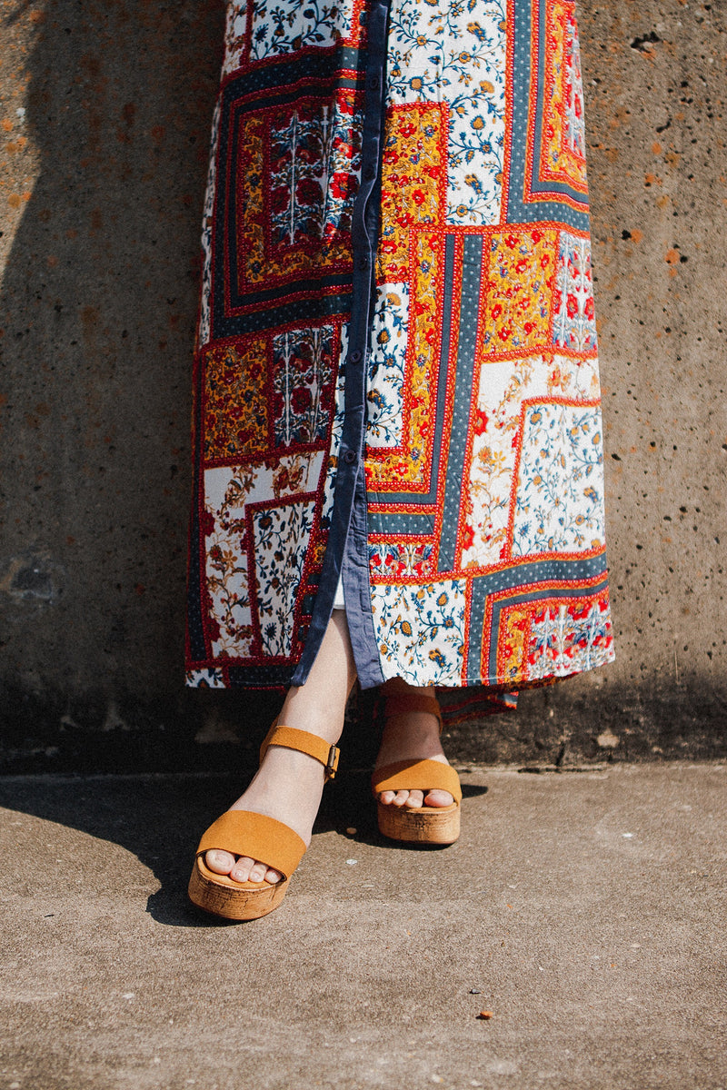 Going to the Sun Maxi Print Dress