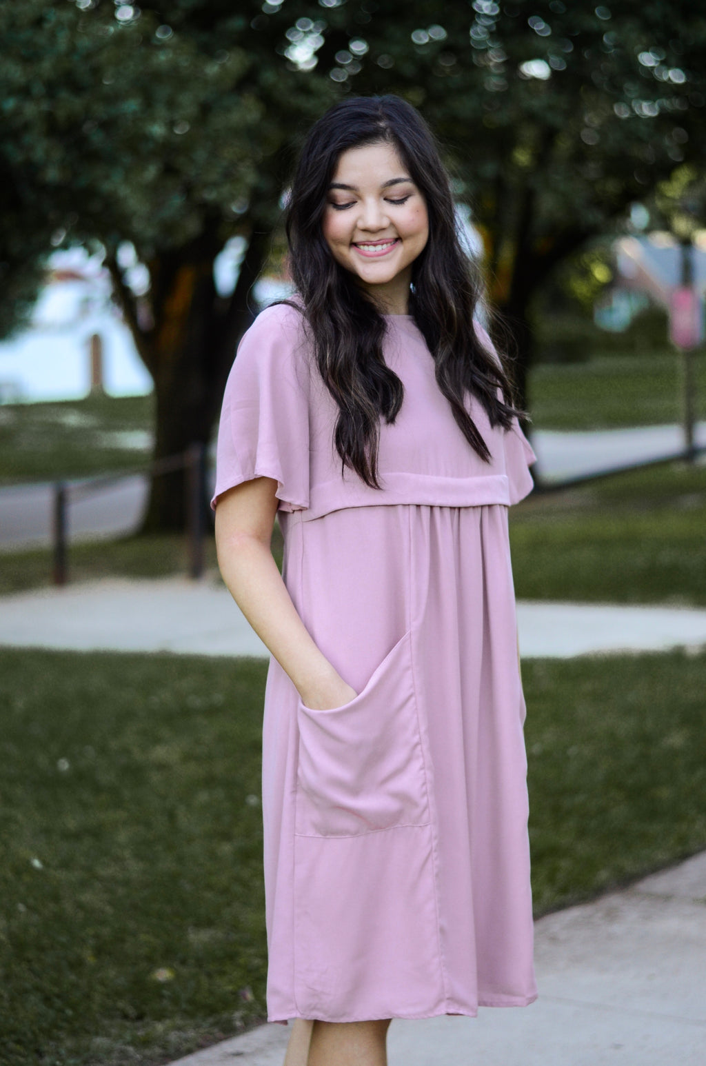 The Aura Dress in Mauve