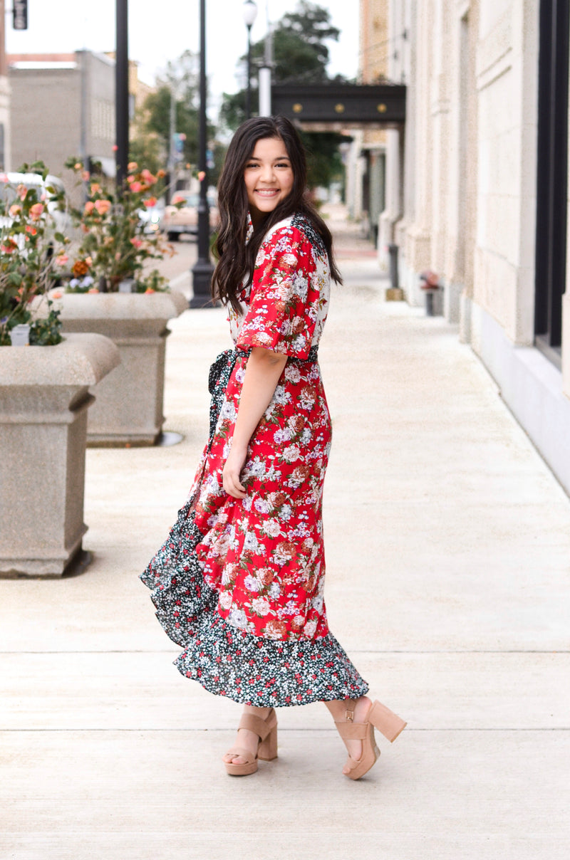 The Zane Floral Button Dress