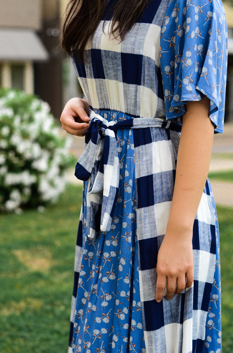 The Larson Mixed Pattern Dress