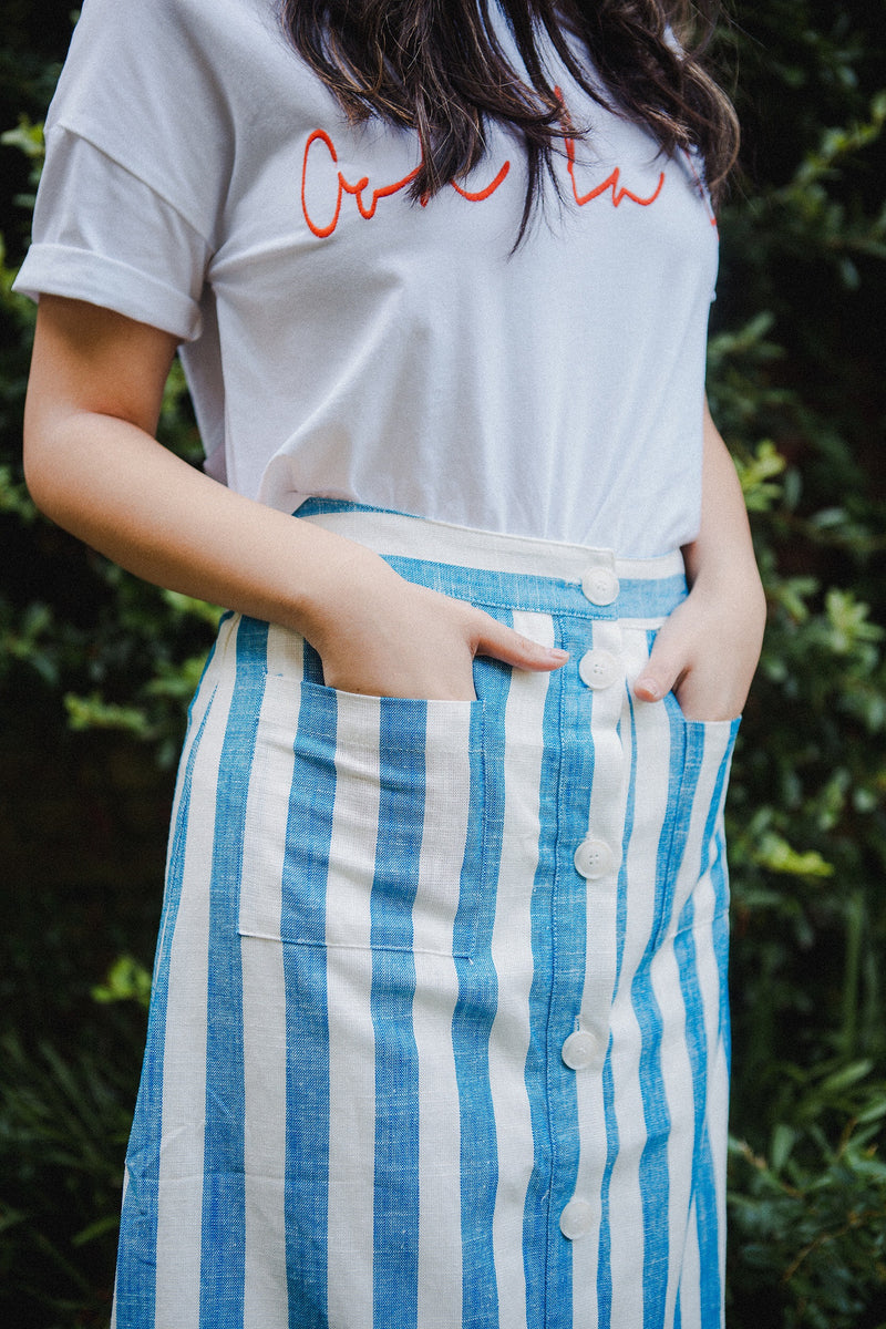 The Vanderbilt Striped Skirt