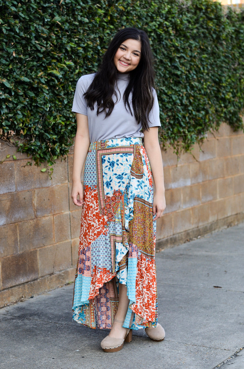 The Persian High-Low Maxi Skirt