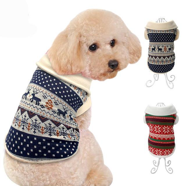Soft Collar Knitted Fair Isle Style Jumper – the pampered hound