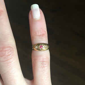 antique pinky ring