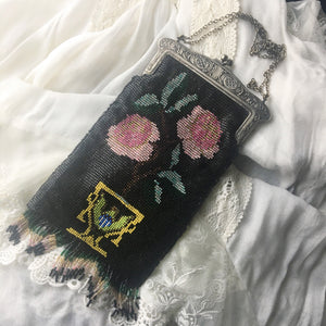 Vintage Art Deco Mourning Purse