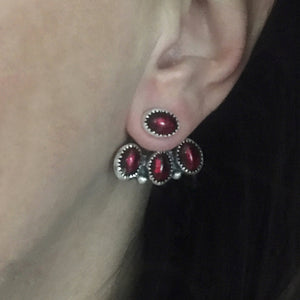 Queen of the Underworld Garnet Ear Jackets