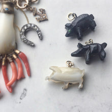 Antique Victorian Lucky Pig Charm