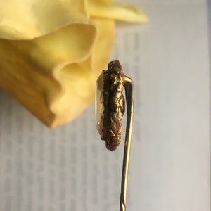 Antique Citrine Stick Pin