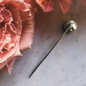 Antique Georgian clear foiled paste stickpin