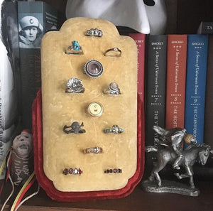 antique ring display