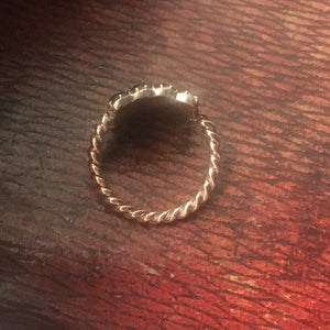 Antique Georgian Jet Mourning Ring - size 5.75