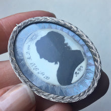 Georgian Mourning Silhouette Locket in Silver