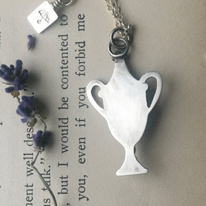 Not Lost But Gone Before Garnet Urn necklace