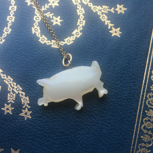antique pig charm