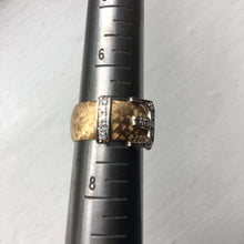 Vintage Diamond Buckle Ring - Size 7