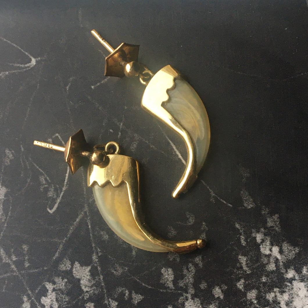 Victorian claw earrings