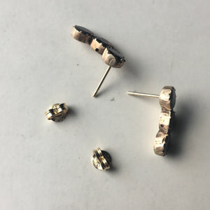 Georgian Foiled Garnet conversion earrings