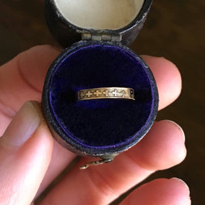 Antique Victorian Child's Mourning Ring - Size 2