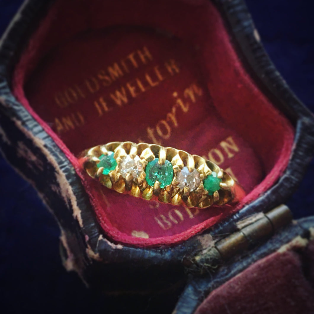 Victorian 5 stone ring