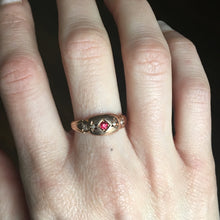 antique garnet ring