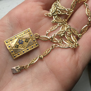 18k filigree necklace