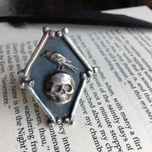 Nevermore - Edgar Allan Poe Skull and Raven ring