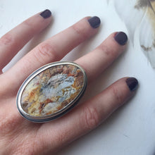 plume agate ring