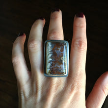 Mabon Plume Agate Ring - Size 7.75