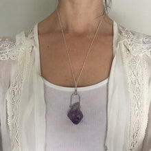 Raw Amethyst Crystal Point Generator Necklace