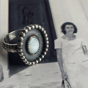 Rosa's Treasure Australian opal ring