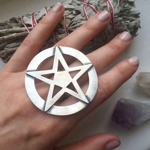 Large Pentagram ring