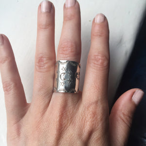 Hermetica Cigar/Saddle Ring - Size 5-8