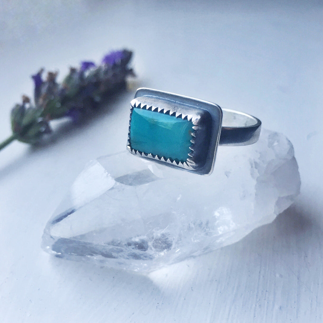 Natural Fox turquoise ring