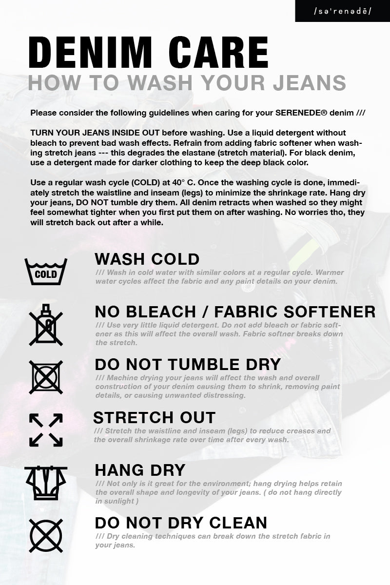 SERENEDE® Denim Care Guide
