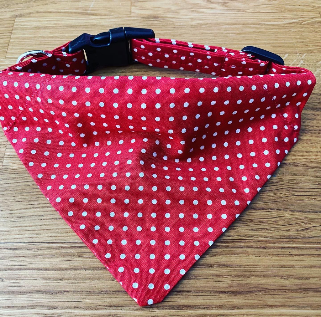 Red Polka Dot Bandana Collar