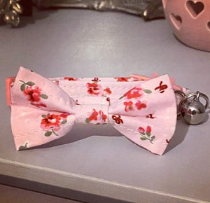 Pink Ditsy Floral Cat Collar