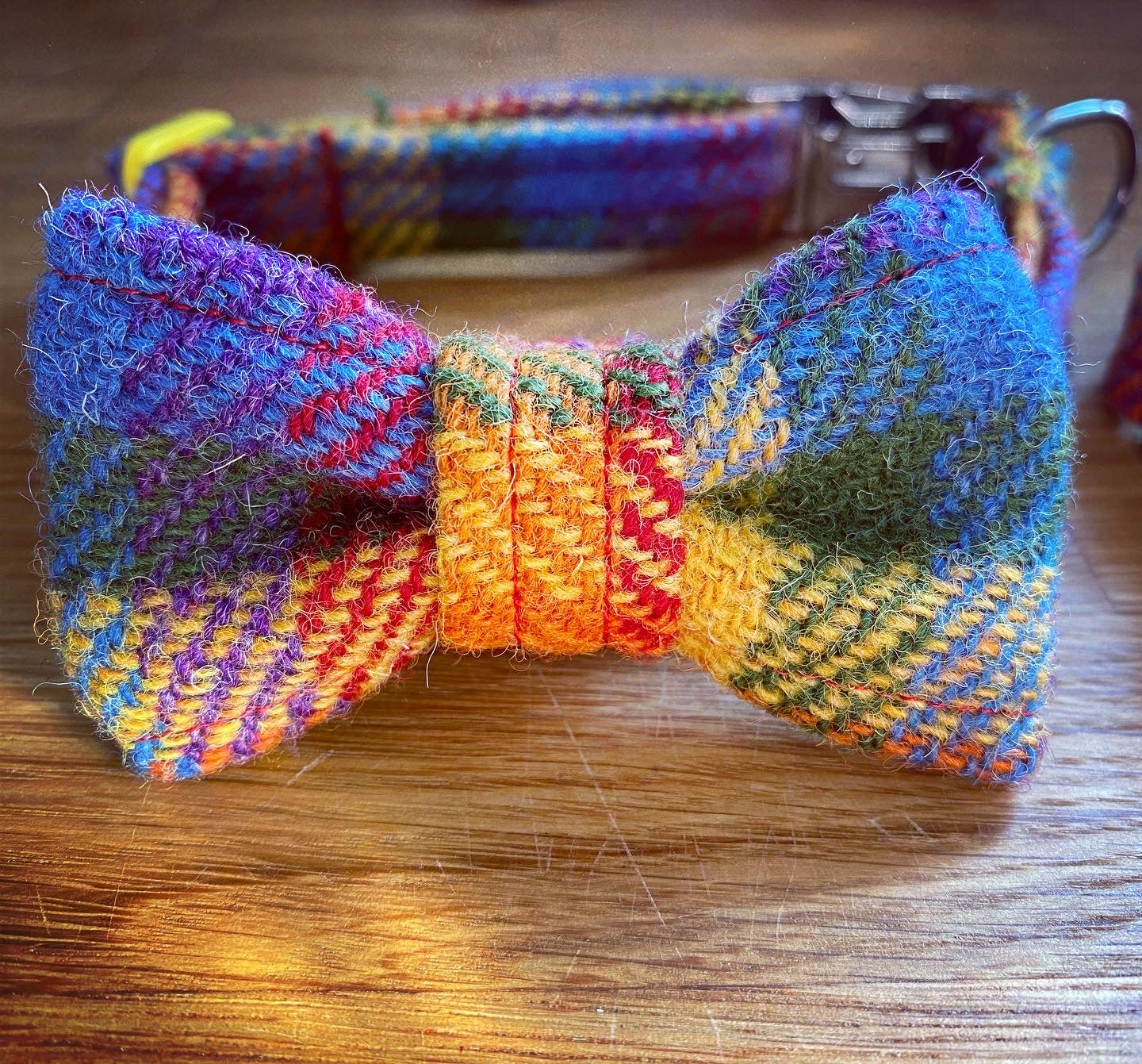 Rainbow Check Harris Tweed