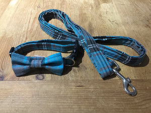 Turquoise And Grey Tartan
