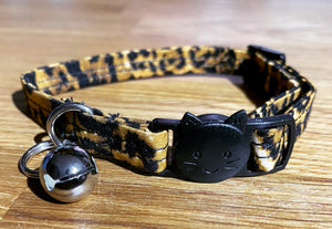 Leopard Print Cat Collar