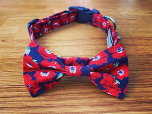 Navy Poppy Cat Collar
