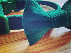 Green Velvet Cat Collar