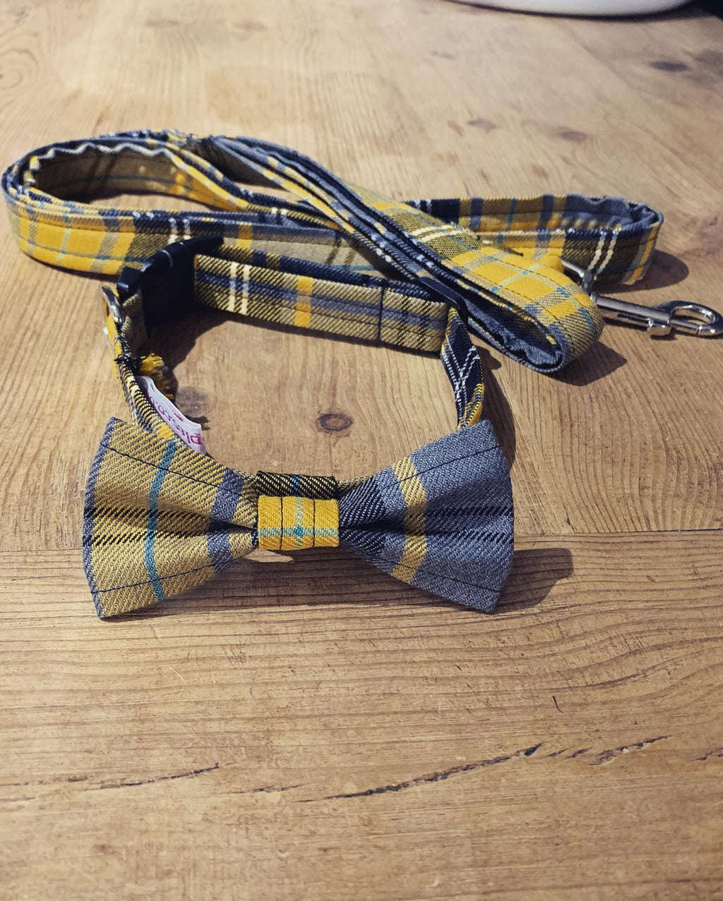 Mustard and Grey Tartan