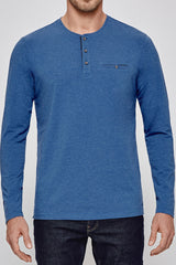 First Class Henley in Cobalt Blue