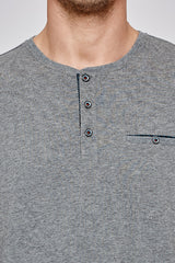 First Class Henley in Charcoal