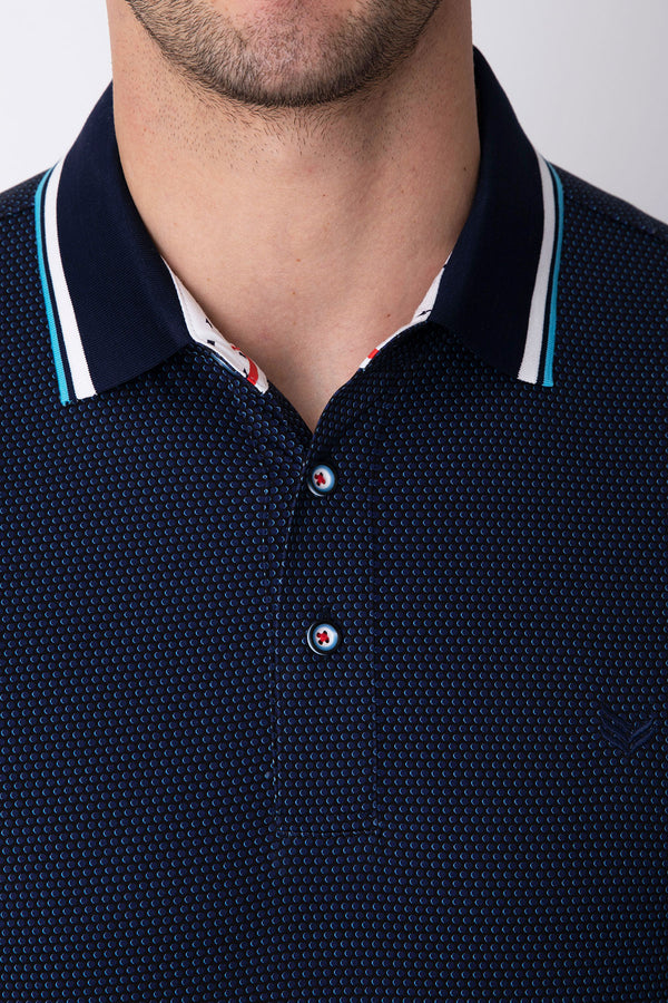 Dotted Shadow in Black/Navy